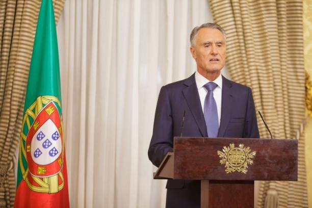 O presidente da República, Cavaco Silva, em pronunciamento aos portuguesas na semana passada Crédito: Divulgação/Presidência da República