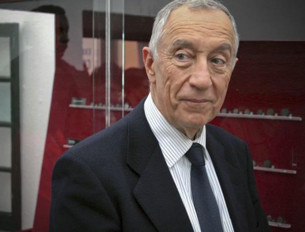 O candidato líder nas pesquisas, Marcelo Rebelo de Sousa