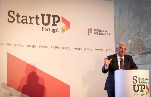 O primeiro-ministro de Portugal, António Costa, discursa durante o lançamento do programa ´Startup Portugal' | Crédito: Clara Azevedo/Governo de Portugal