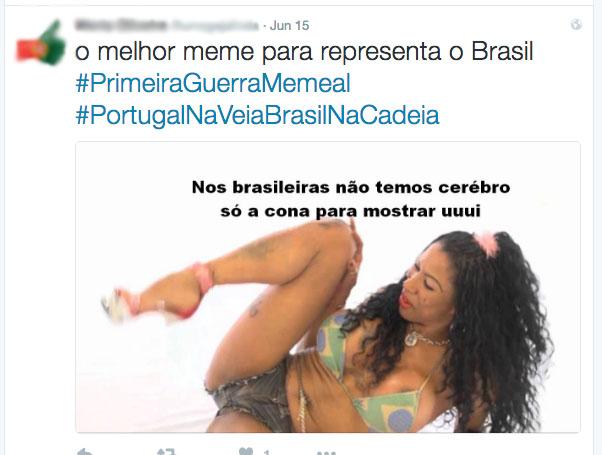 Brasileiras também são alvo de ofensas  Crédito: Reprodução