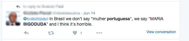 Ofensas ao suposto bigode das portuguesas proliferam nas redes sociais | Crédito: Reprodução