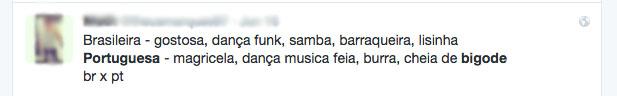 Usuários ofendem inteligência e aparência das portuguesas | Crédito: Reprodução