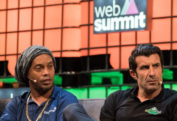 Os jogadores Ronaldinho Gaúcho e Luís Figo apresentaram seu lado empreendedor | Crédito: Giuliana Miranda