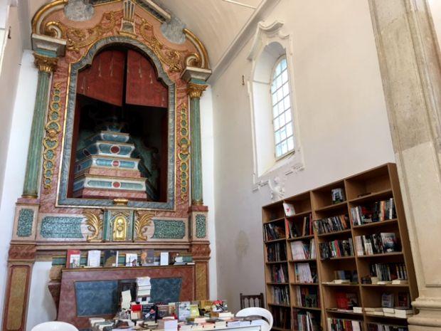 Interior da livraria de Santiago | Foto: Giuliana Miranda