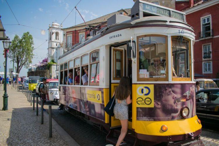 O bondinho original, em Lisboa | Foto: Giuliana Miranda