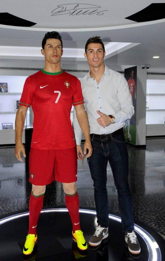Museu tem estátua em tamanho natural de Ronaldo | Foto: Divulgação/ Jorge Monteiro/ Gestifute Media