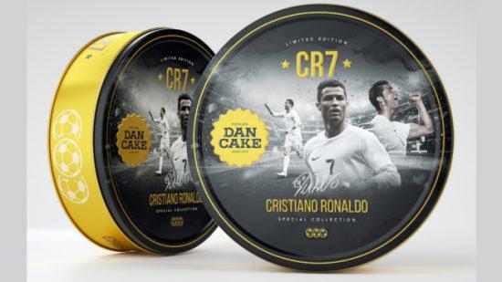 Biscoito também leva a marca de CR7. O difícil é acreditar que ele come | Foto: Divulgação