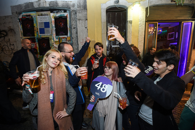 "Participantes do ""Night Summit"" no Bairro Alto"