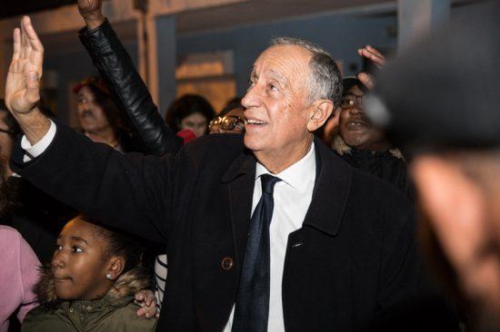 Marcelo Rebelo de Susa, presidente de Portugal, visita projeto social | Foto: Presidência da República Portuguesa