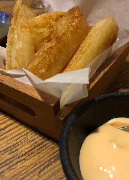 Mandioca frita com maionese temperada | Foto: Giuliana Miranda