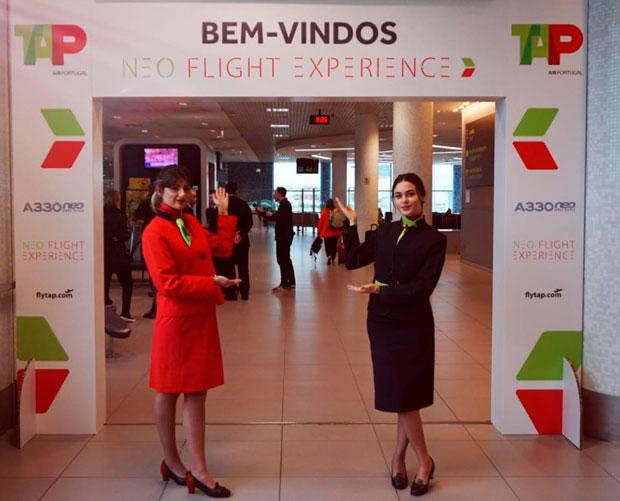 Aeroporto de Lisboa teve uma série de ações promocionais | Foto: Divulgação Tap