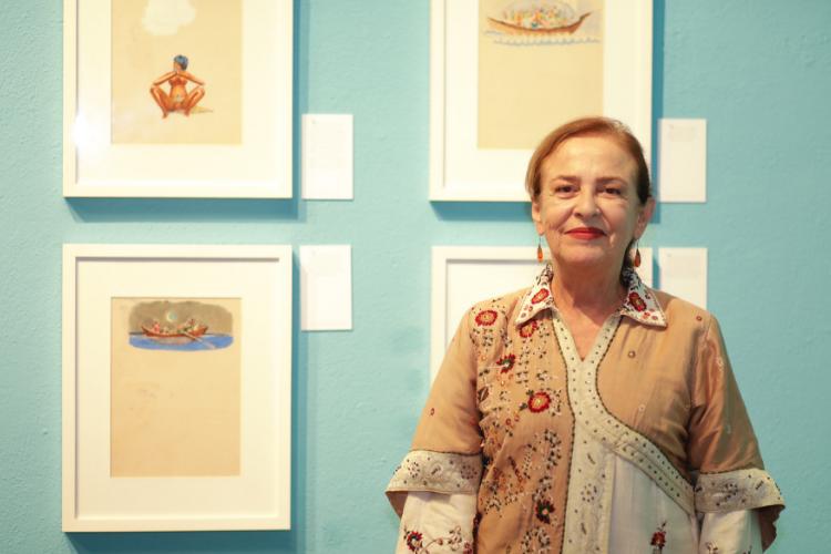 Solange Bernabó é curadora da exposição e filha de Carybé | Foto: Divulgação