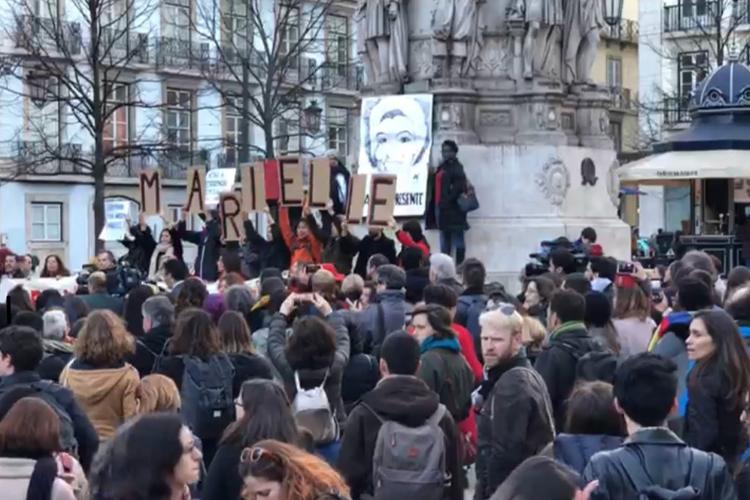 Lisboa teve protesto após morte de Marielle Franco | Foto: Giuliana Miranda/Folhapress