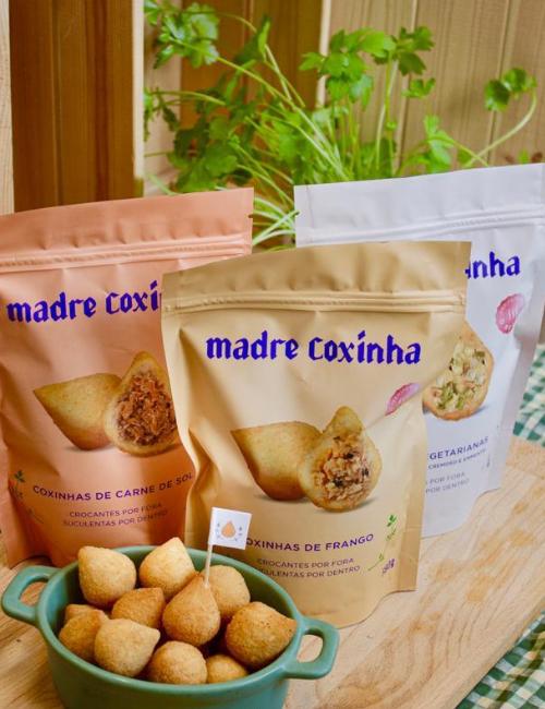 Embalagens de coxinhas pré-prontas | Foto: Divulgação