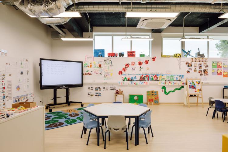 Uma das salas de aula da escola | Foto: Francisco Nogueira/Divulgação