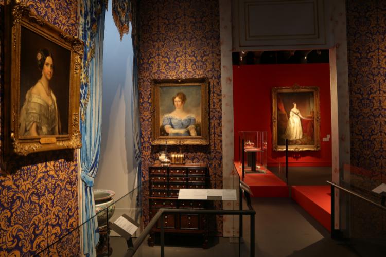 Reprodução do quarto da rainha foi feita a partir de inventário | Foto: Divulgação